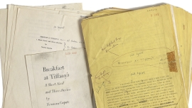 Apparently Capote's manuscript for Breakfast at Tiffany's is up for auction!