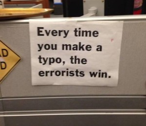 typing errors