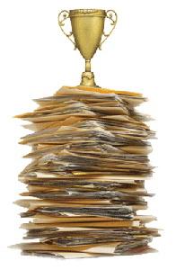 writing trophy