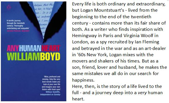 a literary analysis of human heart by william boyd Any human heart: the intimate journals of logan mountstuart is a 2002 novel by  william boyd  boyd plays ironically on the theme of literary celebrity,  introducing his protagonist to several real writers who are included as characters  – a spat.