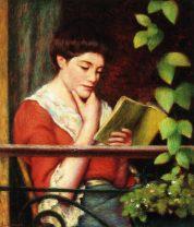 Reading by a Window by Federico Zandomeneghi